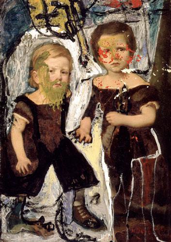 Asger Jorn, Fraternité avant tout, 1962. Yağlıboya tablo. Silkeborg Kunstmuseum. Fotoğraf: Lars Bay; Teğlifak: Donation Jorn, Silkeborg/VBK, Wien 2006.