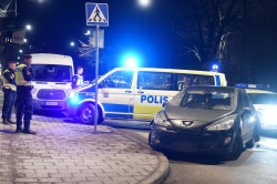 Stockholm merkezde araba kovalamacası.Foto: P-O Sännås